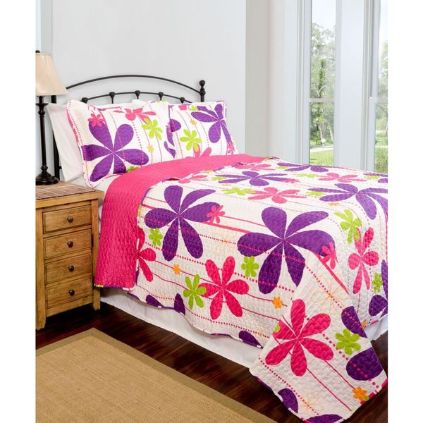 Slumber Shop Pandora Reversible 3-piece Quilt Set