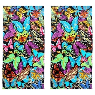 Butterflies Beach Towel (Set of 2)