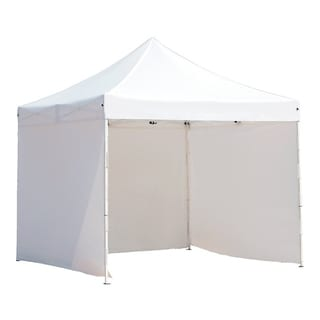 Abba Patio 10 x 10-foot Outdoor Pop Up Portable Event Canopy Instant Canopy with 4 Sidewalls Enclosure
