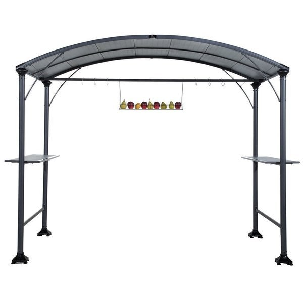 Abba patio 9 x 5-foot Outdoor BBQ Grill Gazebo with Steel Frame and Roofs  sc 1 st  Overstock.com & Abba patio 9 x 5-foot Outdoor BBQ Grill Gazebo with Steel Frame ...