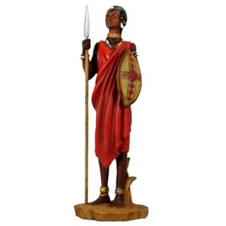 Handmade Alabaster Masai Warrior Figurine (China)