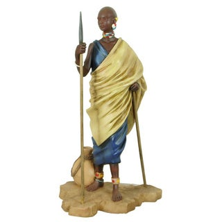 Handmade Masai Shepherd Figurine (China)