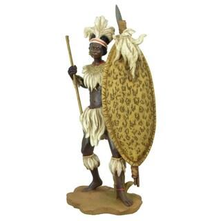 Handmade Zulu Warrior Sculpted Figurine (China)