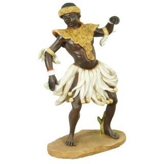 Handmade Zulu Dancer Figurine (China)