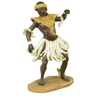 Handmade Zulu Dancer Figurine (China)