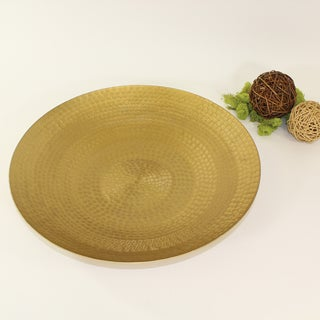 Pampa Bay 16-inch Brass Large Round Platter