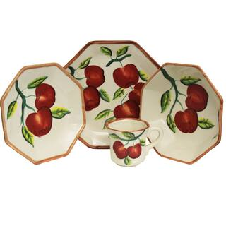 Apple Collection Hand-painted 16-Piece Dinner Set - Serving for 4|https://ak1.ostkcdn.com/images/products/10274966/P17391326.jpg?impolicy=medium
