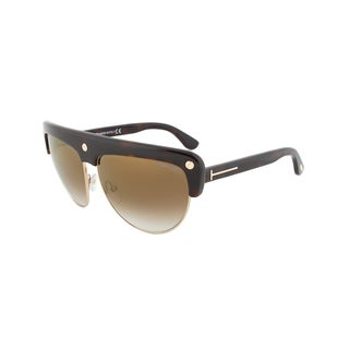 Tom Ford TF318 52G Liane Shield Tortoise Brown Sunglasses