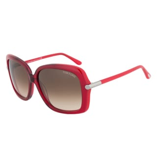 Tom Ford Women's FT0323 68F Paloma Red/ Brown Gradient Sunglasses