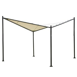 Abba Patio 11.5 x 11.5-foot Polyester Fabric Square Butterfly Gazebo