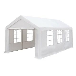Abba Patio 10 x 20-foot Heavy Duty White Versatile Shelter