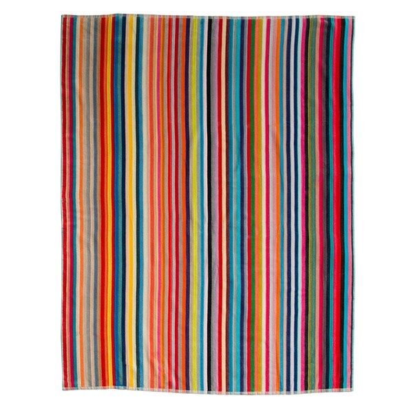 Oversized Candy-Stripe Beach Towel (60 inches x 70 inches)