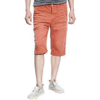 Stitch's Men's Cotton Blend Casual Orange Cargo Shorts