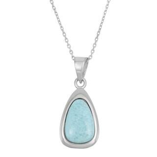 La Preciosa Sterling Silver Blue Larimar Necklace
