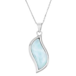 La Preciosa Sterling Silver Larimar Gemstone Necklace