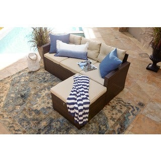 Rio-3 Piece Dark Brown All Weather Wicker Conversation Set