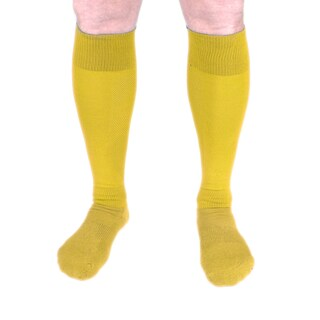 Unisex Polyester and Acrylic Knee-high Compression Socks (Option: Yellow)