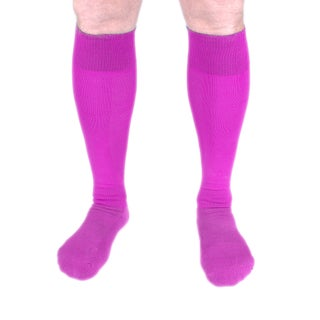Unisex Polyester and Acrylic Knee-high Compression Socks (Option: Pink)