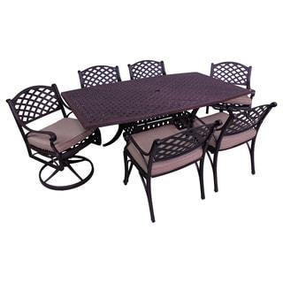 Lattice Work 7-piece Octagon Table Dining Set