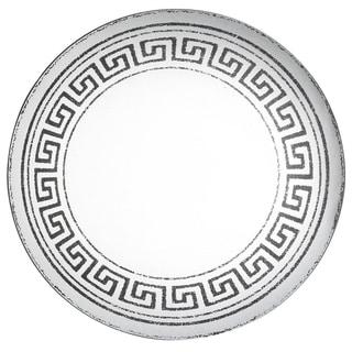 24 inch Greek Key Mirror - Silver - A