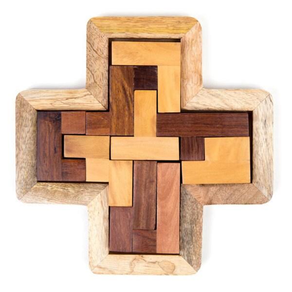 Handmade Indian Rosewood Block Puzzle (India)