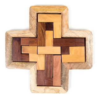 Handmade Indian Rosewood Block Puzzle (India)