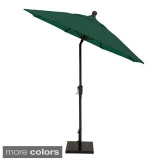 MIYU Furniture 7.5-foot Fiberglass Market Umbrella with Auto Tilt