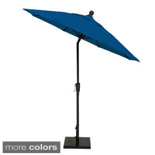 MIYU Furniture 9-foot Fiberglass Market Umbrella with Auto Tilt