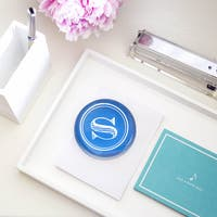 Personalized Circle Block Domed Glass Paperweight