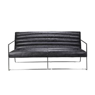 Aurelle Home Vermont Black 2-seater Sofa