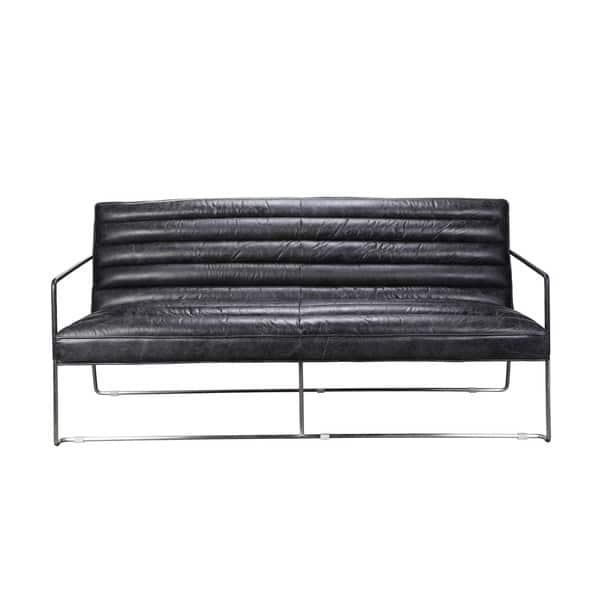 Marvelous Aurelle Home Vermont Black 2 Seater Sofa Machost Co Dining Chair Design Ideas Machostcouk