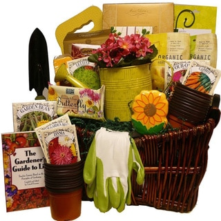 The Gourmet Gardener Gift Basket of Useful Garden Tools and Treats