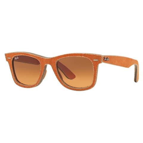 Ray-Ban RB2140 Wayfarer Unisex Orange Frame Amber Lens Sunglasses