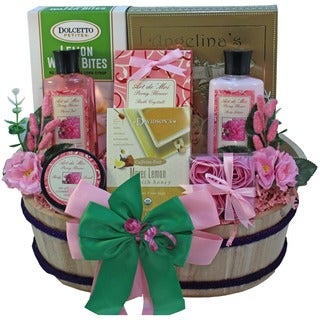 Discontinued~Art of Appreciation Sweet & Stylish Peony Spa Gift Basket