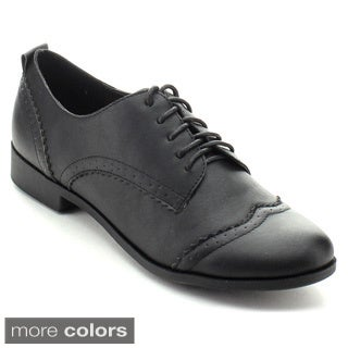 Nature Breeze Campus-01 Women's Five-eye Lace Up Wing Tip Perforation Oxfords