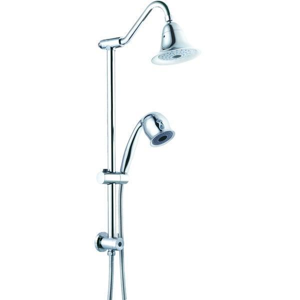 Shop Sliding Bar Set Gooseneck Shower Arm 2 Function Hand Shower