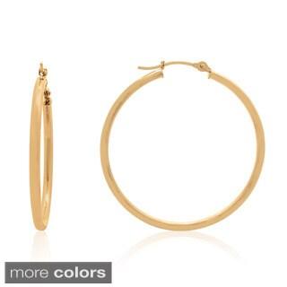 Gioelli 14k Gold High Polish 30mm Hoop Earrings