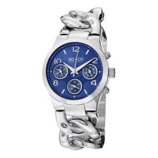 SO&CO New York Women's SoHo Stainless Steel Chain Bracelet Watch