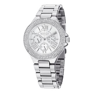 SO&CO New York Women's Madison Quartz Swarovsky Crystal Stainless Steel Bracelet Watch