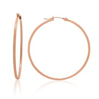 Gioelli 14k Gold High Polish 45mm Round Hoop Earrings