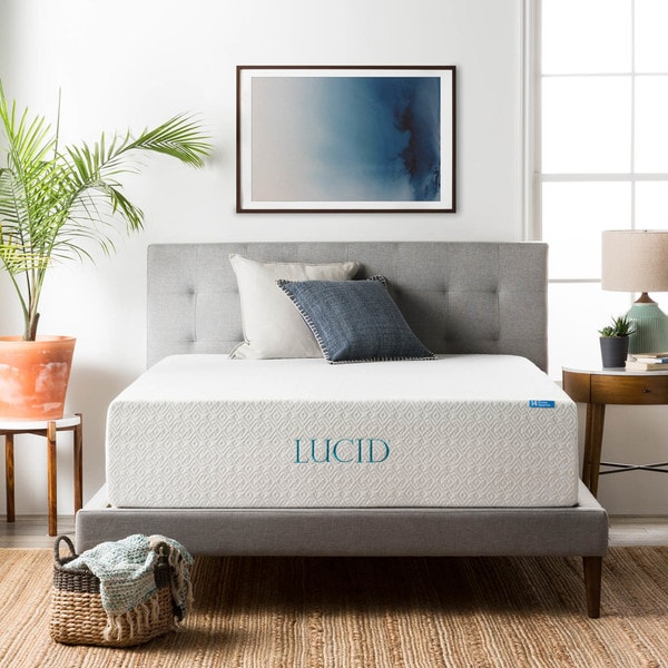 LUCID Comfort Collection 14-inch King-size Gel Memory Foam Mattress