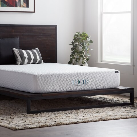 LUCID Comfort Collection 10-Inch Full XL-Size Gel Memory Foam Mattress