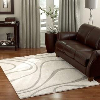 nuLOOM Luxuries Posh Ivory/Beige Shag Rug (6'7 x 9') - (As Is Item)