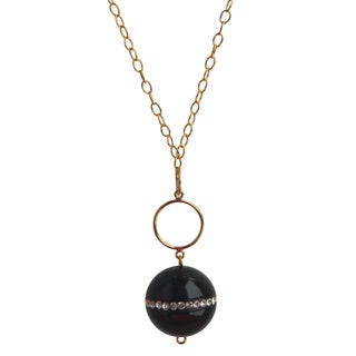 Handmade Gold-filled Black Onyx Crystal Drop Necklace