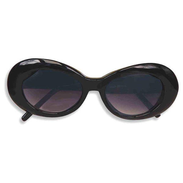 f4097503f91 Shop Black Round 1960 s Mod GoGo Sunglasses - Free Shipping On Orders Over   45 - Overstock - 10275578