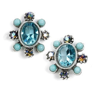Sweet Romance Oval Swarovski Crystal Stud Earrings