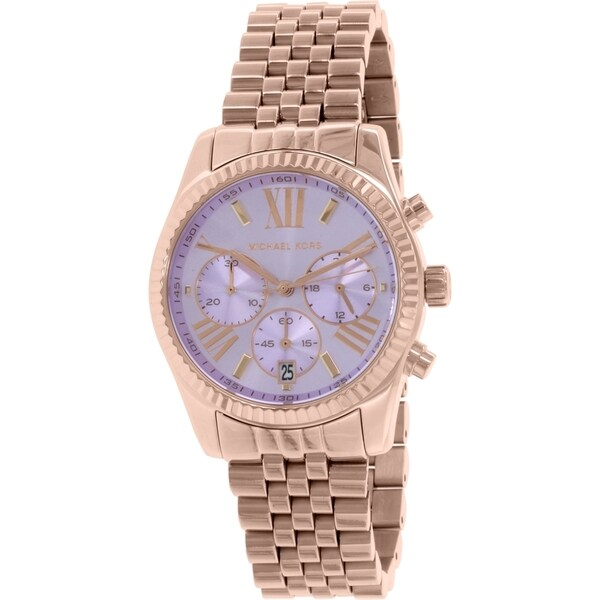 Michael Kors Women's MK6207 'Lexington' Chronograph Rose-Tone Stainless Steel Watch