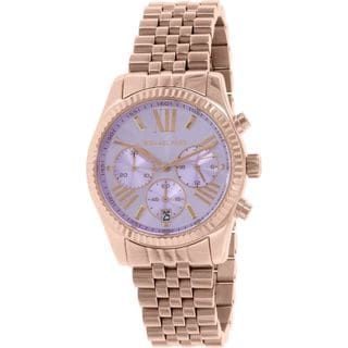 Michael Kors Women\u0026#39;s MK6207 \u0026#39;Lexington\u0026#39; Chronograph Rose-Tone Stainless Steel Watch Quick View