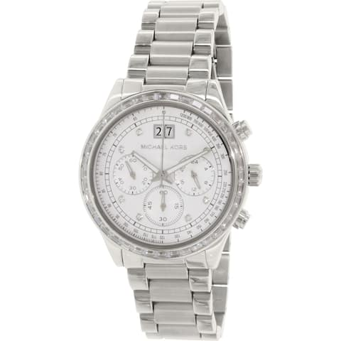 Michael Kors Women's MK6186 'Brinkley' Chronograph Crystal Stainless Steel Watch