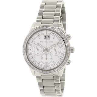 Link to Michael Kors Women's MK6186 'Brinkley' Chronograph Crystal Stainless Steel Watch Similar Items in Women's Watches